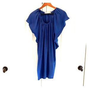 Blue silk Ulla Johnson dress